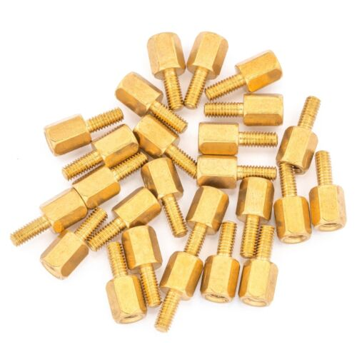 25pcs 6mm M2.5 Male Female Brass Hex Standoff Spacer Screw Separator Stand Off