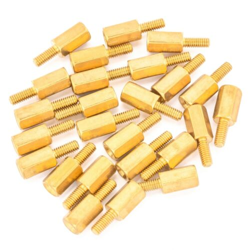 25pcs 8mm M2.5 Male Female Brass Hex Standoff Spacer Screw Separator Stand Off