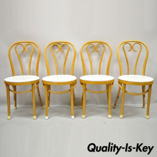 Vintage Bentwood GAR Romania Thonet Cafe Bistro Dining Chairs - Set of 4