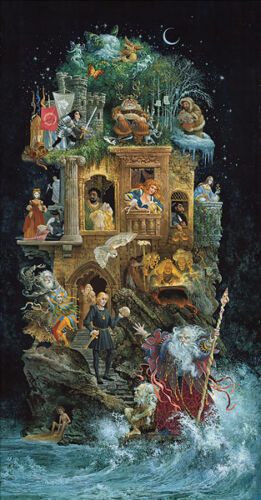 James CHRISTENSEN Shakespearean Fantasy LE edition Giclee Canvas signed LARGE