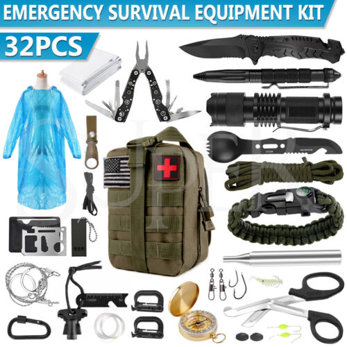 Tactical Emergency Survival Kit Outdoor Sports Tactical Hiking Camping SOS Tool