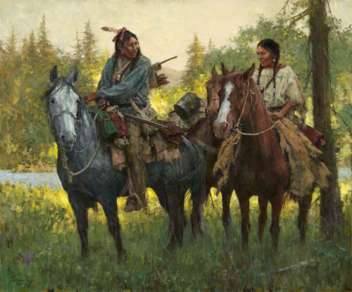 Howard TERPNING A New Beginning Signed & Numbered Limited Canvas Native art
