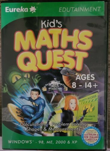Maths Quest Kids Childrens Pc Computer Educational Game 8 To 14 Yrs learning