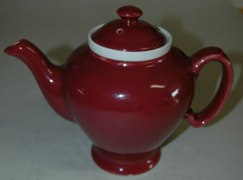 Vintage McCormick Tea Teapot In Maroon Red Baltimore USA With Infuser