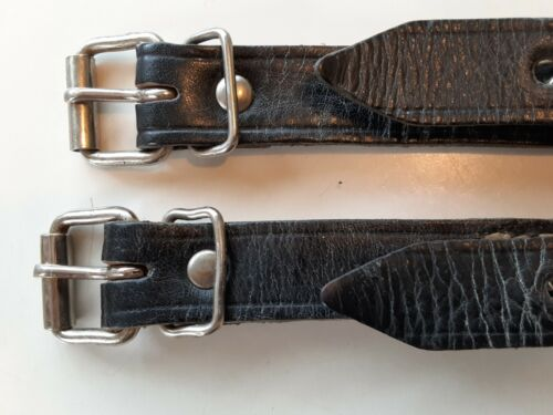 ORIGINAL EAST GERMAN  leather mess tin & tornister straps Nicely Matched  1958Original Period Items - 13982