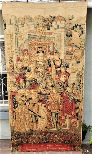A Medieval Style Tapestry with King