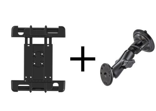RAM Suction Cup Mount for iPad Ver 1-4, Air 4, Pro 11, Google, More, use w/case