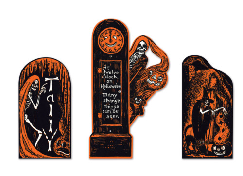 BEISTLE HALLOWEEN INVITATION CUTOUTS PARTY WALL DECORATION VINTAGE REPRODUCTION