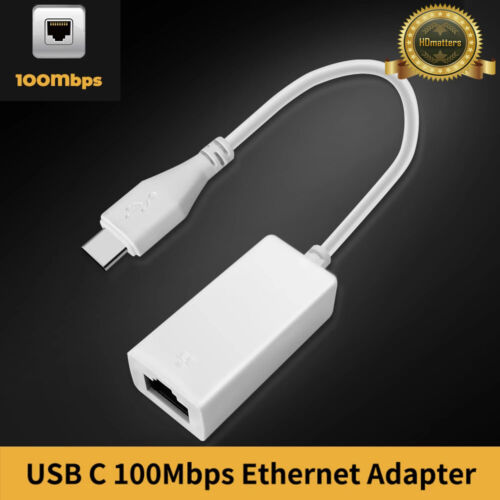 USB 3.1 Type C to Ethernet RJ45 Network Adapter Cable for Apple win10/8 macbook