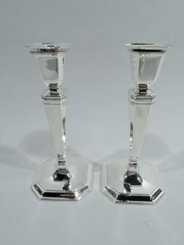 Tiffany Candlesticks - 18685 - Art Deco Classical - American Sterling Silver