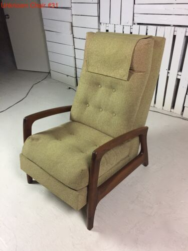 Vintage Adrian Pearsall Craft Associates Recliner Lounge Chair Authentic, Orig.