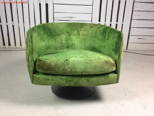 Vintage Adrian Pearsall Craft Associates RARE Swivel Lounge Chair, Orig. w/tag