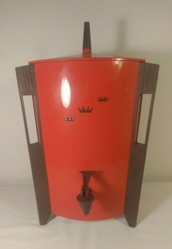 Regal Coffee Percolator 7530 10-30 cup red complete Mid Century Modern
