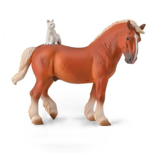 CollectA NEW * Draft Horse with Cat * 88916 Breyer Corral Pals Model Horse