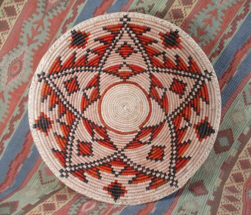 Southwestern Style Basket   Double Star Basket  Wall or Table Top  over 12 inch