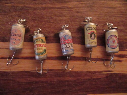 Coors Light Banquet Winterfest Brew 5 Different Beer Fishing Lures Colorado