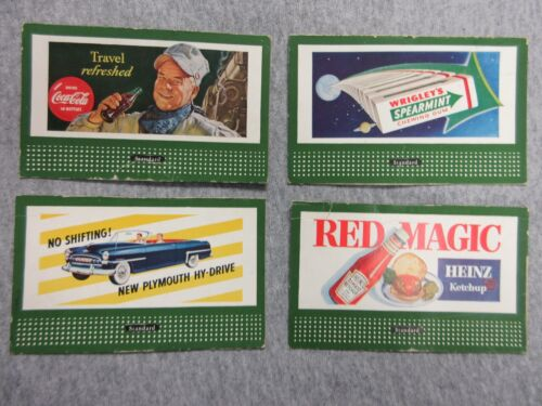 vintage Standard advertising cards Heinz, Wrigley, Plymouth Coca Cola lot P