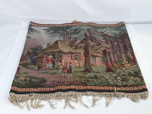 HANSEL & GRETEL BLACK FOREST TAPESTRY- WITCHES-BLACK CAT
