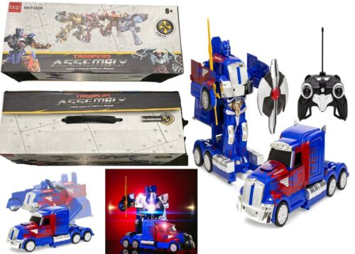 Transformers Optimus Prime Robot RC Transforming Truck Ages 8+ Toy Car IR Race