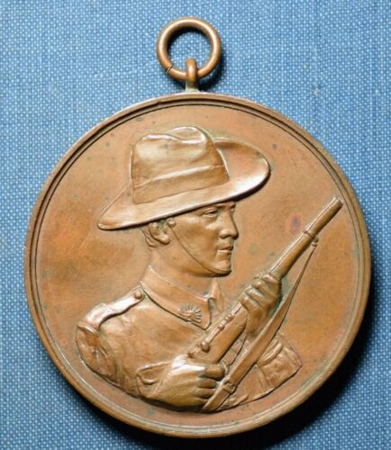 1918 COMFORTS FUND MEDAL SA DIVISION LARGE SIZE 51mm NICE CONDITION WWI AUST