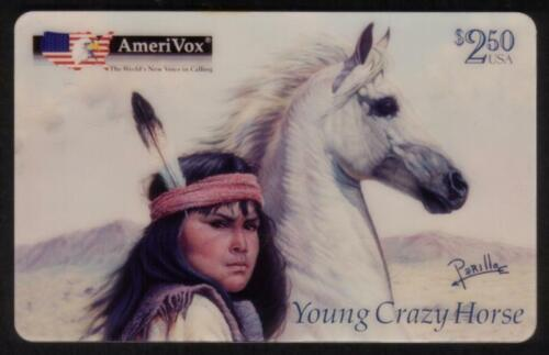 $2.50 Young Crazy Horse Artwork by Perillo SPECIMEN Phone Card