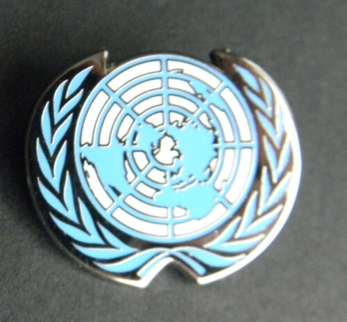 UNITED NATIONS UN WREATH LAPEL HAT PIN BADGE 1.1 INCHES
