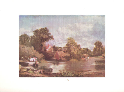 1960 Art Print The White Horse by John Constable English Free Shipping!
