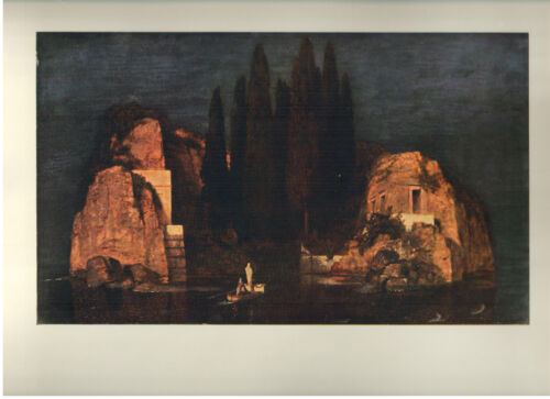 """1960 Art Print """"Island Of The Dead"""" by Arnold Bocklin; Swiss Free Shipping"""