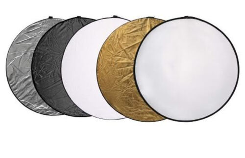"""60cm 24"""" Light Mulit Collapsible Reflector Photography"""