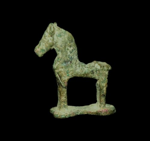 APHRODITE- ANCIENT ORIENTALIZING GREEK  BRONZE HORSE
