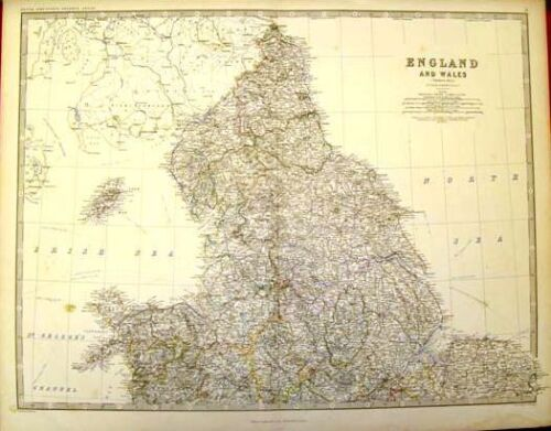 Keith Johnston's Map - ENGLAND & WALES (NORTH) - c1865