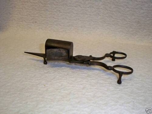 Primitive Wrought Iron Candle Scissors 1800's