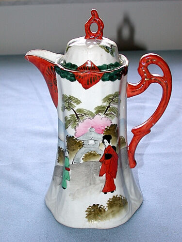 Beautiful Vintage Chinese Hand Painted Chocolate Pot