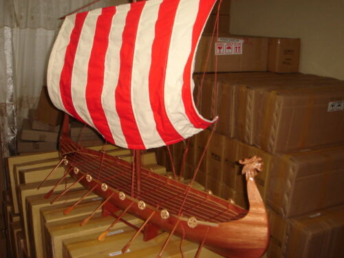 Viking Dragon boat high quality hand made wooden model ship 40""