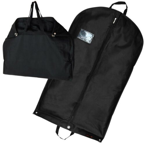Hangerworld™ 40 in Black Breathable Suit Carry Cover Garment Clothes Travel Bag