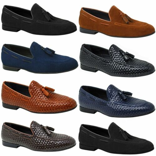 Mens Summer Fashion Black Beach Loafers Smart Brown Holiday Navy Moccasins  <br/> Suede & Faux Leather Options in 5 Different Colours