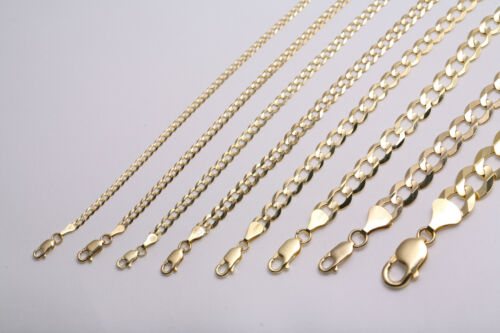 "GOLD AUTHENTIC 10K SOLID GOLD MEN'S WOMEN CUBAN LINK CHAIN NECKLACE SZ 16""-36"""
