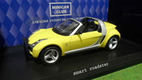 SMART ROADSTER Cabriolet jaune 1/18 KYOSHO 09102Y voiture miniature d collection