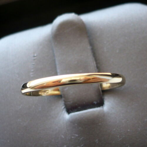 2mm 10K SOLID YELLOW GOLD  WOMEN'S THUMB/ WEDDING BAND RING SIZE 5-13