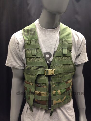 US MILITARY WOODLAND CAMO FIGHTING LOAD CARRIER FLC TACTICAL VEST MOLLE IIOther Current Field Gear - 36071