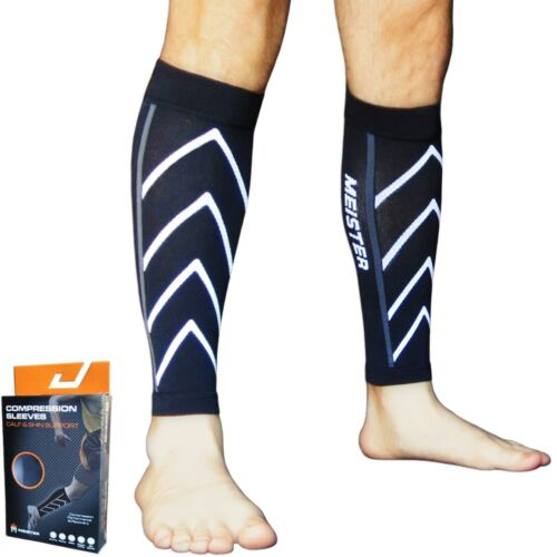 MEISTER COMPRESSION LEG SLEEVES Running Calf Shin Splints CrossFit S/M/L/XL PAIR