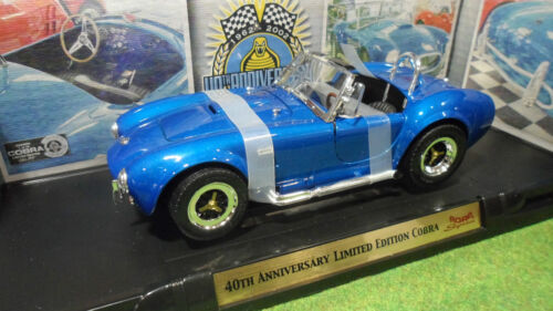 SHELBY COBRA 40th Anniversary 1/18 ROAD SIGNATURE YATMING 92059 voiture miniatur