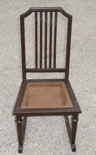 RARE 1930s Art Deco Machine Age Woodgrain All Steel Simmons Rocking Chair