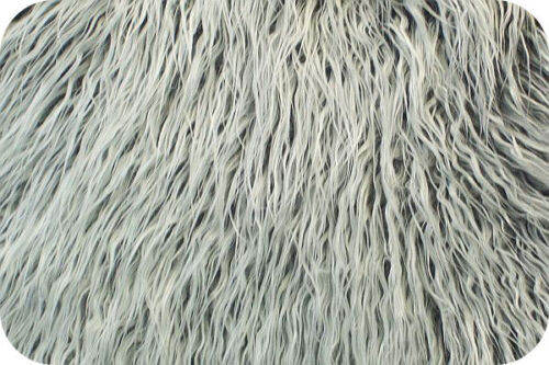 Grey Frost Mongolian Faux Fur Photo Prop Newborn Nest 36 x 60 Inches Photography