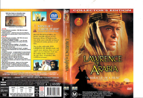 Lawrence of Arabia-1962-Peter O'Toole-2 Disc Collector's Edition- Movie-DVD