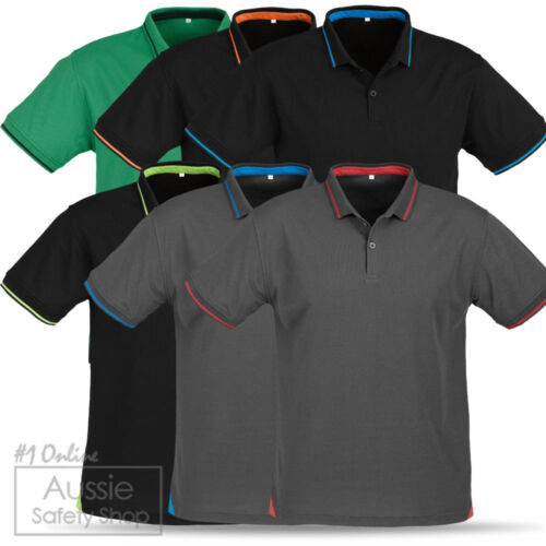 3 X MENS LADIES JET COTTON-BACKED MODERN OFFICE BREATHABLE SMART WORK POLO S-5XL