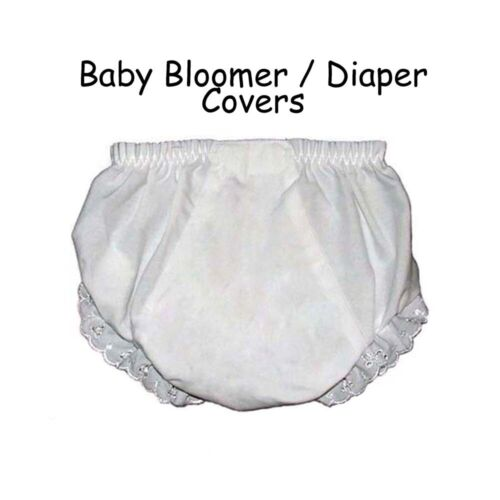 Baby Diaper Covers Bloomers Embroidery Blank - White - 6 months