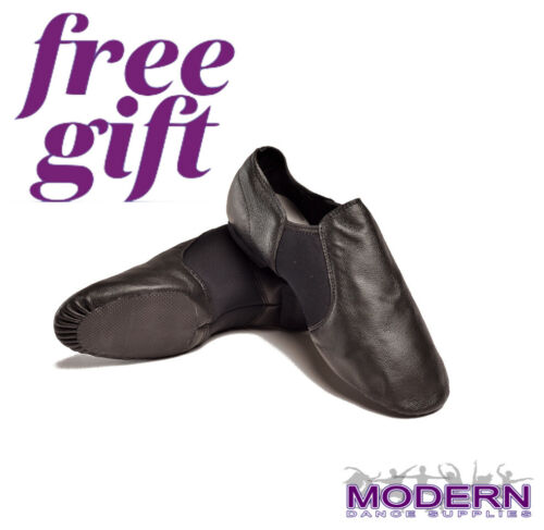 DTTROL Dance Leather Upper Quality Black Jazz Shoes