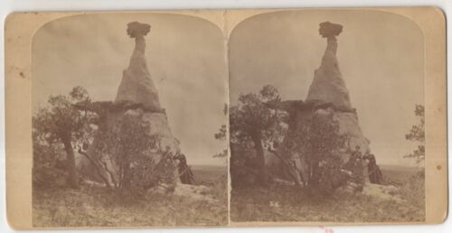 Ute's Medicinal Monument Creek Antique Gurnsey's Rocky Mountain Stereoview Card