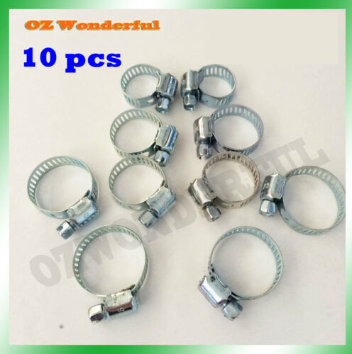 10 pcs Hose Clamps 8mm to 27mm Quality Hose Clamp